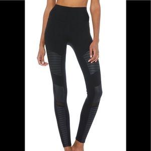 Alo Yoga high waisted moto legging black